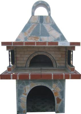 фурна с голямо барбекю и  голямо кубе/ стандарт/ с покрив
